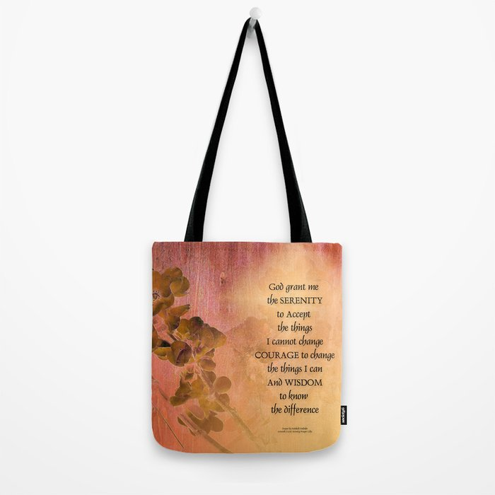Serenity Prayer Quince and Fence One Tote Bag