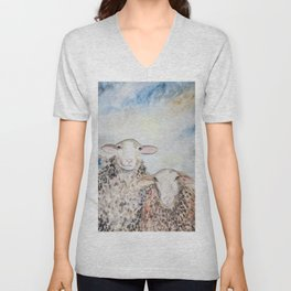 Couple of Sheep Unisex V-Neck