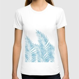 Palm Leaves Light Blue T-shirt