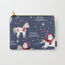 Christmas Unicorns Pattern Carry-All Pouch