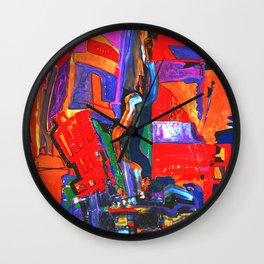 Metropolis Öl auf Leinwand Wall Clock
