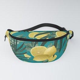 Summer Lemon Twist Jungle #5 #tropical #decor #art #society6 Fanny Pack