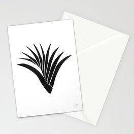 Pandanus Leaf - Black Stationery Cards