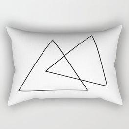 Double Triangles Rectangular Pillow