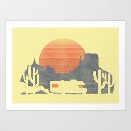 Trail of the dusty road Art Print