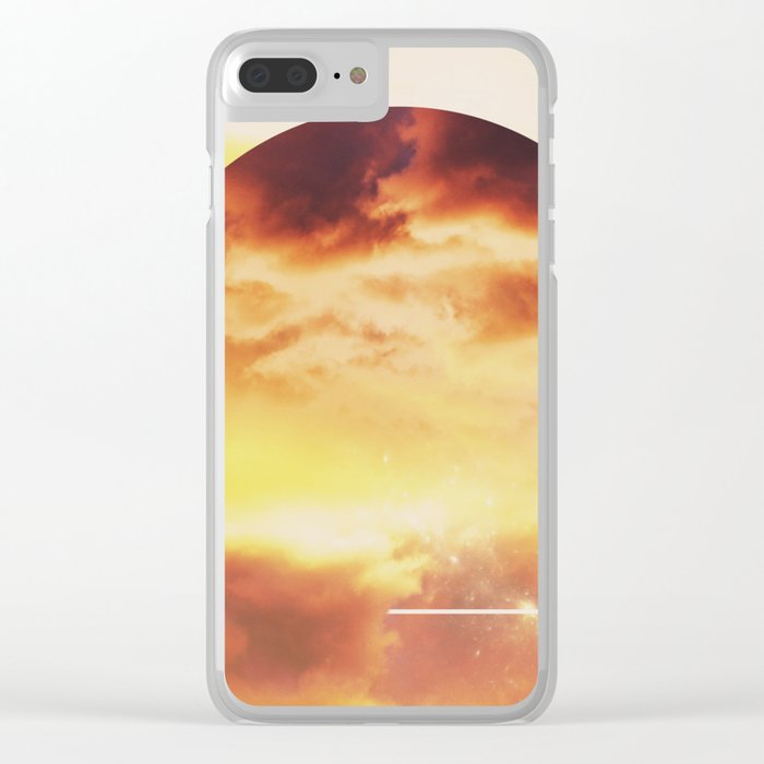 Helios And Clouds Clear iPhone Case