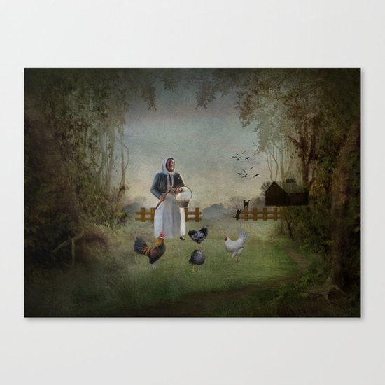 Collecting the Eggs Canvas Print