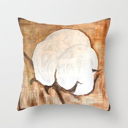Southern Cotton Boll Throw Pillow
