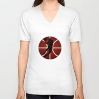 lakers V-neck T-shirts featuring SLAM DUNK - JORDAN by alexa