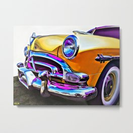1951 Yellow Hudson Hornet Metal Print