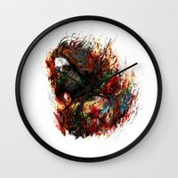 the winter soldier Wall Clocks featuring Winter Soldier by ururuty