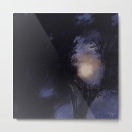 Moonshine - A moon hiding Metal Print