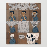 smoke Canvas Prints featuring Smoke by Theodore Taylor III