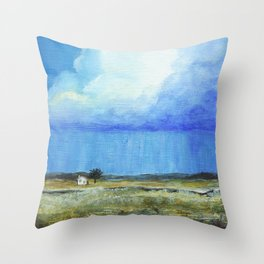 A Perfect Storm, Abstract Landscape Art Throw Pillow
