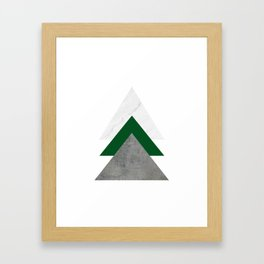 Marble Green Concrete Arrows Collage Framed Art Print