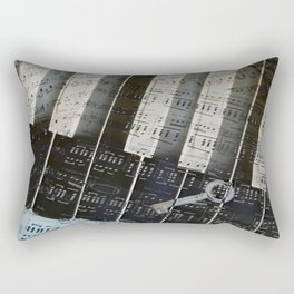 Piano Keys black and white - music notes Rectangular Pillow