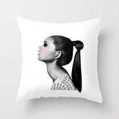 Ponytail Throw Pillow
