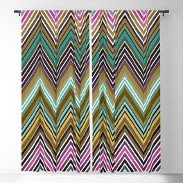 Zigzag Ultra Thin Lines Crochet  Pattern Blackout Curtain