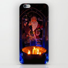 Candlelit Santa iPhone Skin