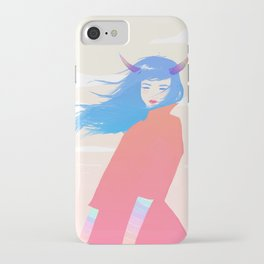 Girl with Horns iPhone Case