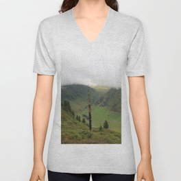 A cloudy day in the Alps Unisex V-Neck