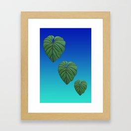 Australica Exotic Lush Leaf Framed Art Print