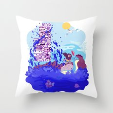 Tiny Worlds - Cinnabar Island Throw Pillow