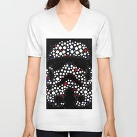 stormtrooper V-neck T-shirts featuring Stormtrooper by Saundra Myles