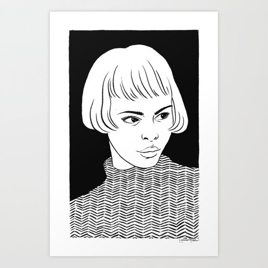 Chic Lady Art Print