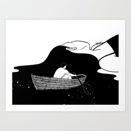 Rowing to you Art Print