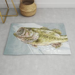 Magnificent Largemouth Bass Rug
