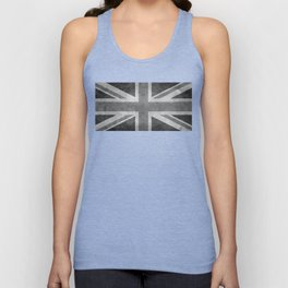 British Union Jack flag in grungy tex Unisex Tanktop