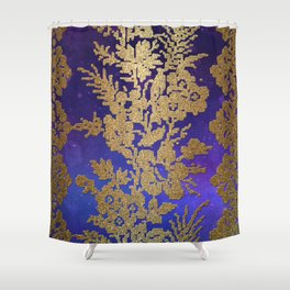 Golde Lace in the Night Sky Shower Curtain