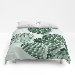 Green Bunny Ears Cactus  Comforters