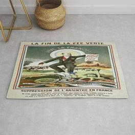 Vintage poster - La Finn de la Fee Verte Rug