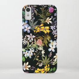 Flowers with Hidden Pot Leaves iPhone Case