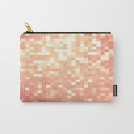 Peach Sparkle Pixels Carry-All Pouch