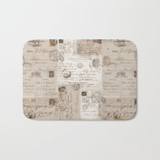 Old Letters Bath Mat