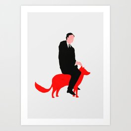 The story about me and the fox Art Print