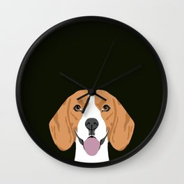 Darby - Beagle gifts for pet owners and dog person with a beagle Wall Clock