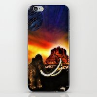 surrealism iPhone & iPod Skins featuring Prehistoric surrealism by Daluci Designs