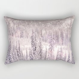 Winter Was Harsh - Trees covered in snow Rectangular Pillow