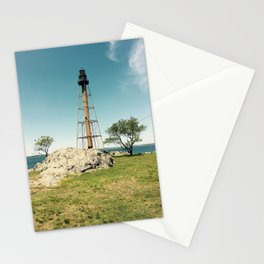 Lighthouse in the summer Stationery Cards
