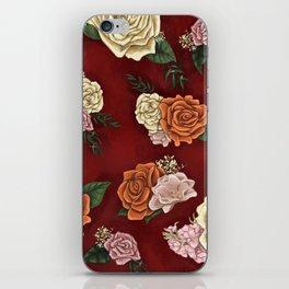 Red luxury flowers iPhone Skin
