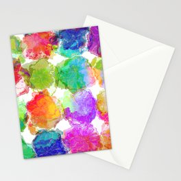 Colorful Ink Blots Stationery Cards