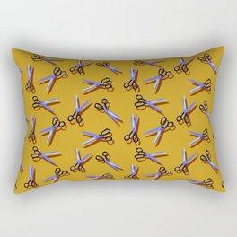 Scissors in Orange Rectangular Pillow