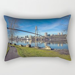 Sky-train Bridge Rectangular Pillow