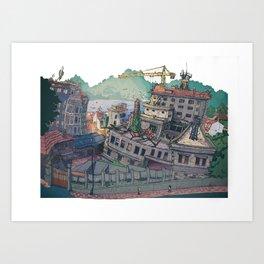A Panificadora de Vigo Art Print