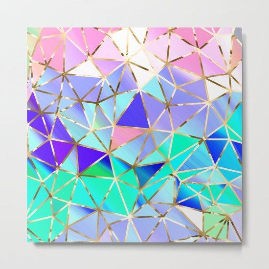 Rainbow Geometric pattern #6 Metal Print