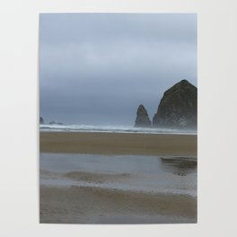 Misty Morning at Cannon Beach Poster